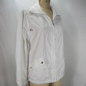 Chico's Zenergy White Zip Up Coat Jacket Windbreak